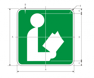 I-8 Library Guide Sign Spec