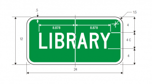 I-8p Library Guide Sign Spec