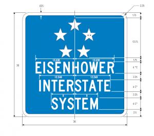 M1-10 Eisenhower Interstate System Guide Sign Spec