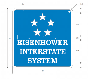 M1-10a Eisenhower Interstate System Guide Sign Spec