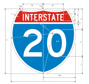 M1-1 Interstate Route Guide Sign Spec