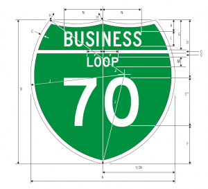 M1-2 Off-Interstate Business Route Loop Guide Sign Spec