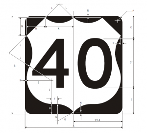 M1-4 U S Route Marker For Independent Use Guide Sign Spec