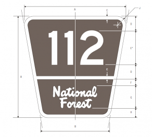 M1-7 Forest Route Guide Sign Spec