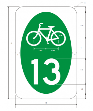 M1-8 Bicycle Route Guide Sign Spec