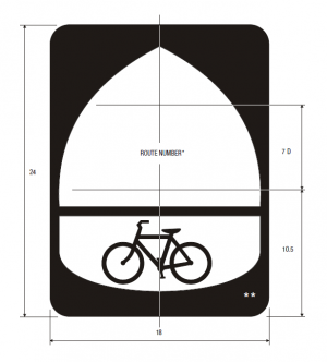 M1-9 Bicycle Route Guide Sign Spec