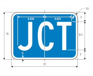 M2-1 Interstate Junction Auxiliary Guide Sign Spec