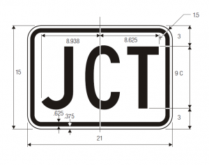 M2-1 Junction Auxiliary Guide Sign Spec