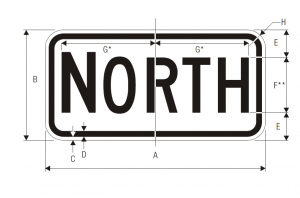 M3-1 Cardinal Direction Auxiliary Guide Sign Spec
