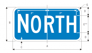 M3-1 Interstate Cardinal Direction Auxiliary Guide Sign Spec