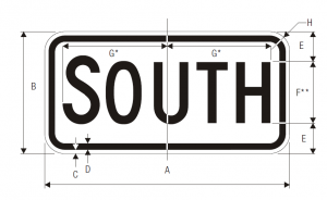 M3-3 Cardinal Direction Auxiliary Guide Sign Spec