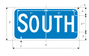 M3-3 Interstate Cardinal Direction Auxiliary Guide Sign Spec