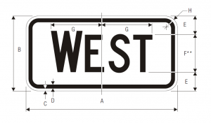 M3-4 Cardinal Direction Auxiliary Guide Sign Spec