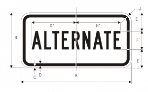 M4-1 Alternate Auxiliary Guide Sign Spec