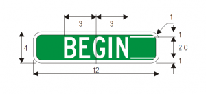 M4-11 Begin Guide Sign Spec