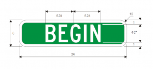 M4-11 Begin Guide Sign Spec