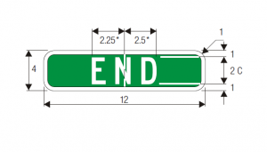 M4-12 End Guide Sign Spec