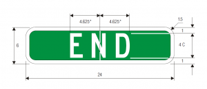 M4-12 End Auxiliary Guide Sign Spec