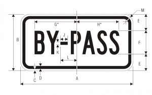 M4-2 By Pass Auxiliary Guide Sign Spec