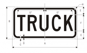 M4-4 Truck Auxiliary Guide Sign Spec
