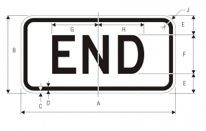 M4-6 End Auxiliary Guide Sign Spec