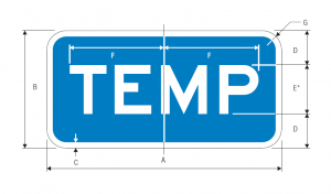 M4-7a Interstate Temporary Auxiliary Guide Sign Spec