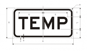 M4-7a Temporary Auxiliary Guide Sign Spec
