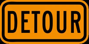 M4-8 Detour Warning Sign