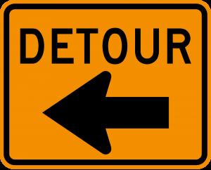 M4-9L Detour Warning Sign