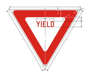 R1-2 Yield Regulatory Sign Spec