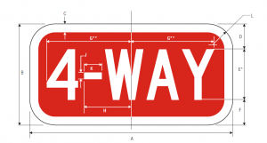 R1-3 4-Way Regulatory Sign Spec