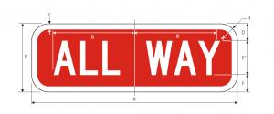 R1-4 All Way Regulatory Sign Spec