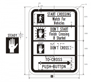 R10-3b Pedestrian Traffic Signal Regulatory Sign Spec