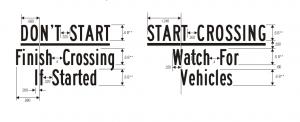 R10-3b Pedestrian Traffic Signal Relevant Regulatory Sign Spec