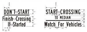 R10-3d Pedestrian Traffic Signal Relevant Regulatory Sign