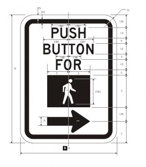 R10-4b Pedestrian Traffic Signal Regulatory Sign Spec