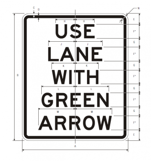 R10-8 Use Lane With Arrow Regulatory Sign Spec