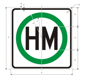 R14-2 Hazardous Material Regulatory Sign Spec