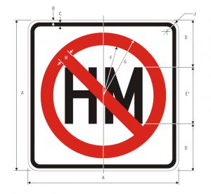 R14-3 Hazardous Material Regulatory Sign Spec