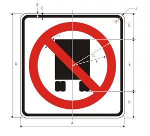 R14-5 National Network Prohibited Regulatory Sign Spec