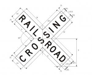 R15-1 Grade Crossing Regulatory Sign Spec