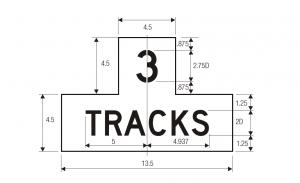 R15-2 Number Of Tracks Grade Crossing Regulatory Sign Spec