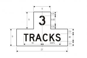 R15-2 Number Of Tracks Highway Regulatory Sign Spec