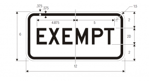 R15-3 W10 1a Exempt Grade Crossing Regulatory Sign Spec