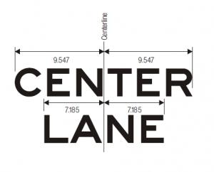 R15-4c Light Rail Only Center Lane Regulatory Sign Spec