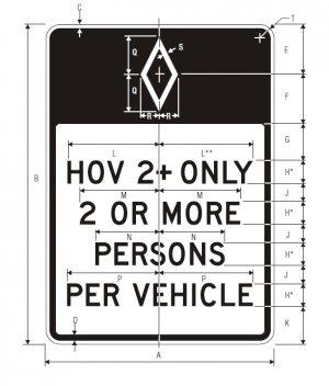 R3-10 Preferential Only Lane Ahead Ground Mounted Regulatory Sign Spec