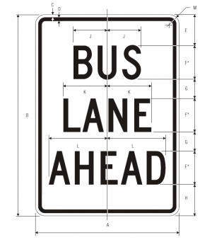 R3-10a Preferential Only Lane Ahead Ground Mounted Regulatory Sign Spec