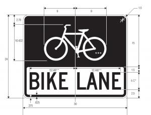 R3-17 Bike Lane Regulatory Sign Spec