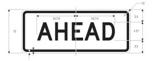 R3-17a Bike Lane Ahead Regulatory Sign Spec