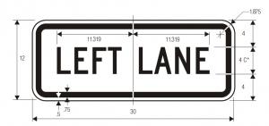 R3-5b Lane Control Plaque Regulatory Sign Spec